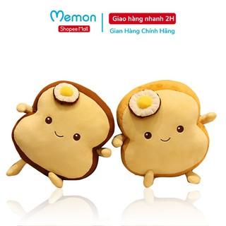 Gối Ôm Bánh Mì Nơ Trứng Nhồi Bông Cao Cấp Memon thumbnail