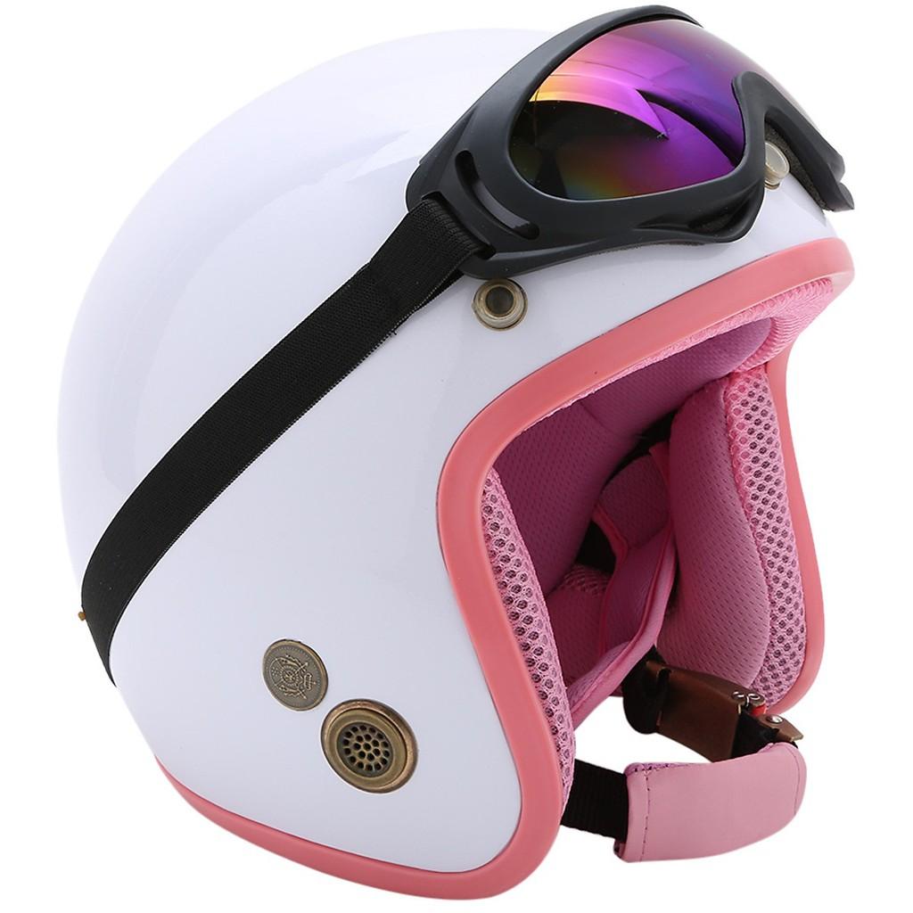 Combo Mũ Bảo Hiểm 3/4 Đầu Napoli SH Tặng Kèm Kính UV - Bảo hành 12 tháng