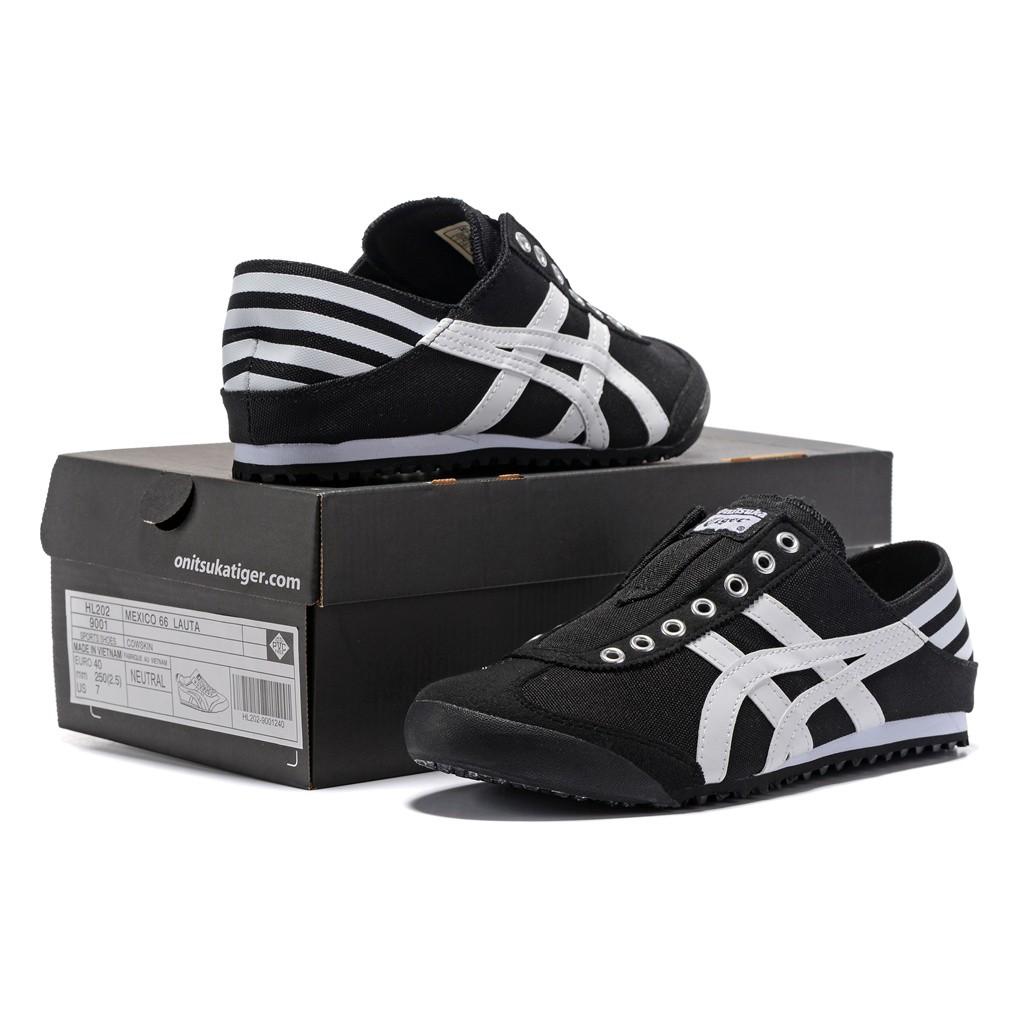 Original Asics tiger Canvas shoes flatshoes running shoes for men/women black