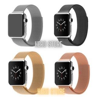 Dây Đeo Apple Watch Thép Không Gỉ - Series 5 4 3 2 1, T500, W26, W46, Dây Milanese Loop thumbnail