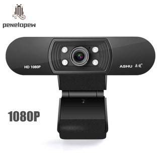 pw 1080P Night Vision Webcam HD Web Camera with Built-in Microphone for Laptop Desktop