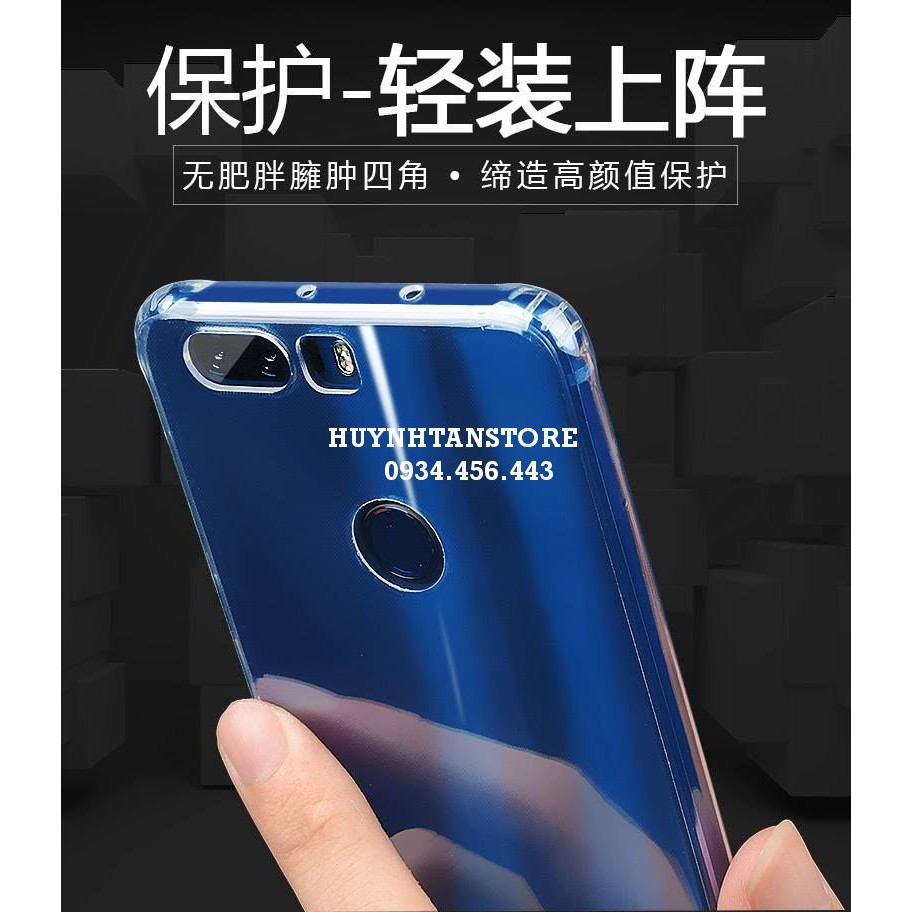 Huawei Honor 8 _ Ốp silicon trong suốt cao cấp