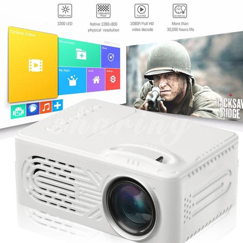 Bán 6000 Lumens 4K 3D HD Smart Projector AV USB TF 3 5mm Home Cinema