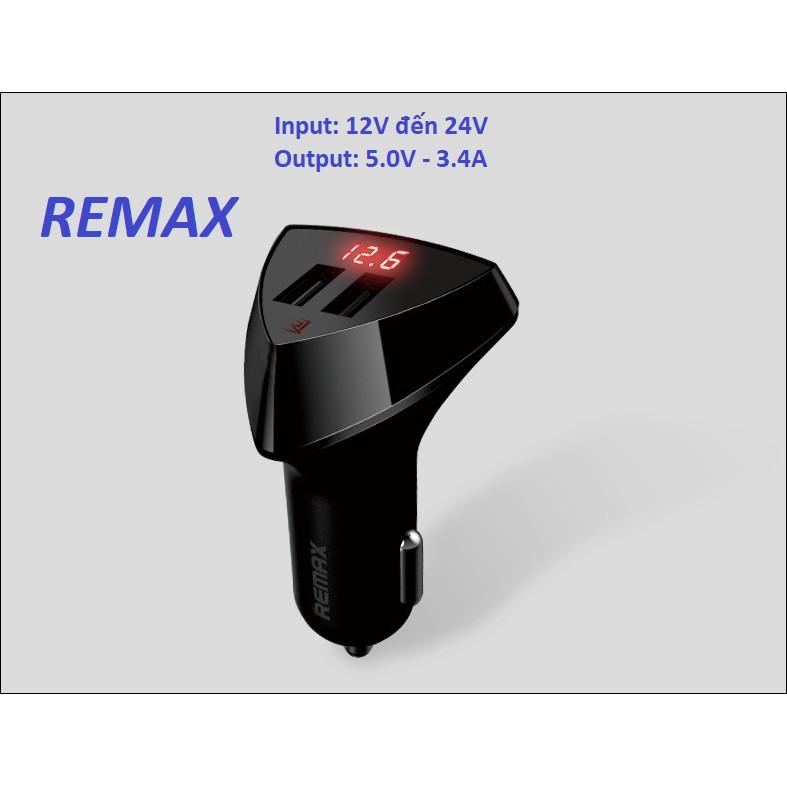 Tẩu sạc trên ô tô 5V-3.4A chính hãng Remax