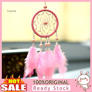 view_Lovely Feather Beads Dream Catcher Wall Car Hanging Ornament Window Decor Gift