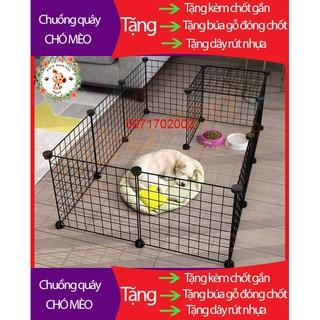 Chuồng quây chó mèo lắp ghép ( đã tặng kèm chốt ) bán lẻ theo tấm giá rẻ thumbnail