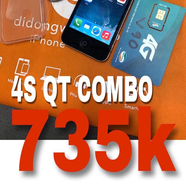 Điện thoại iphone 4s quốc tế 8gb
