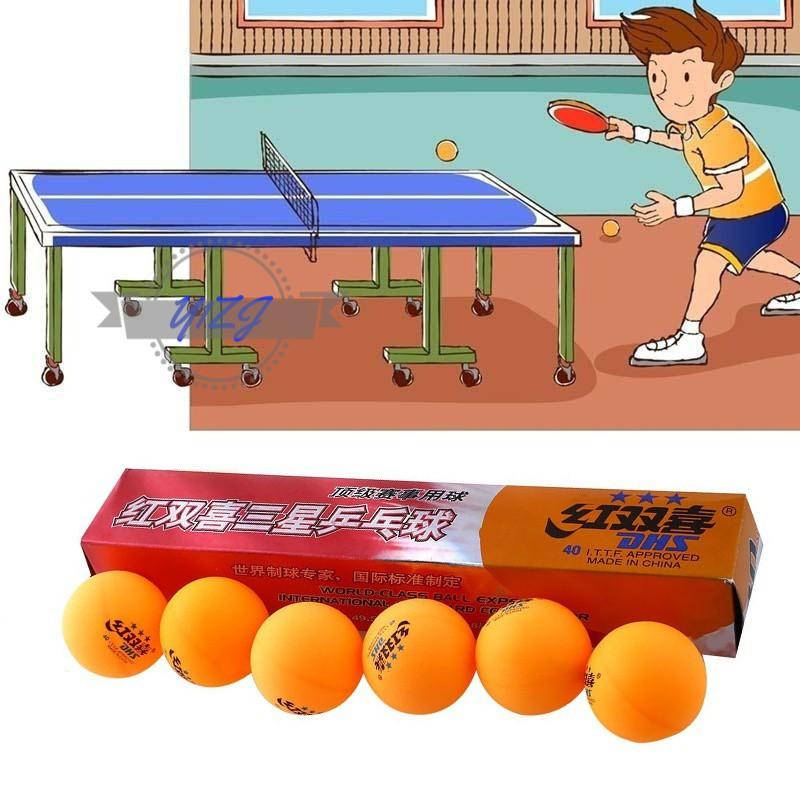 Y1ZJ 6Pcs/Box 3 Stars Professional DHS 2.8G Table Tennis Balls Sports Accessories &TH