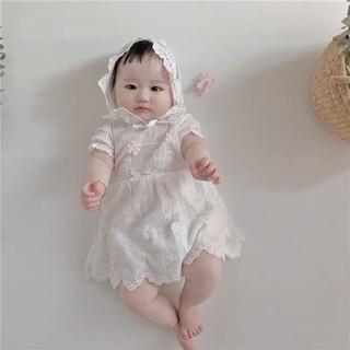body giả váy trắng kèm mũ bé gái xinh yêu 😍