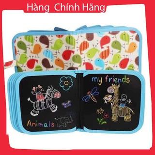 Sách viết, tô màu dạng bảng, tặng kèm 12 bút màu và khăn lau_Hàng chất lượng cao