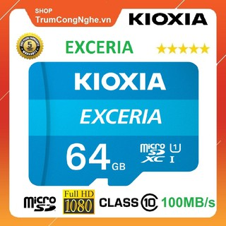 Thẻ nhớ 64GB KIOXIA (Toshiba) Exceria microSDHC Class10 100MB/s Tốc Độ Cao