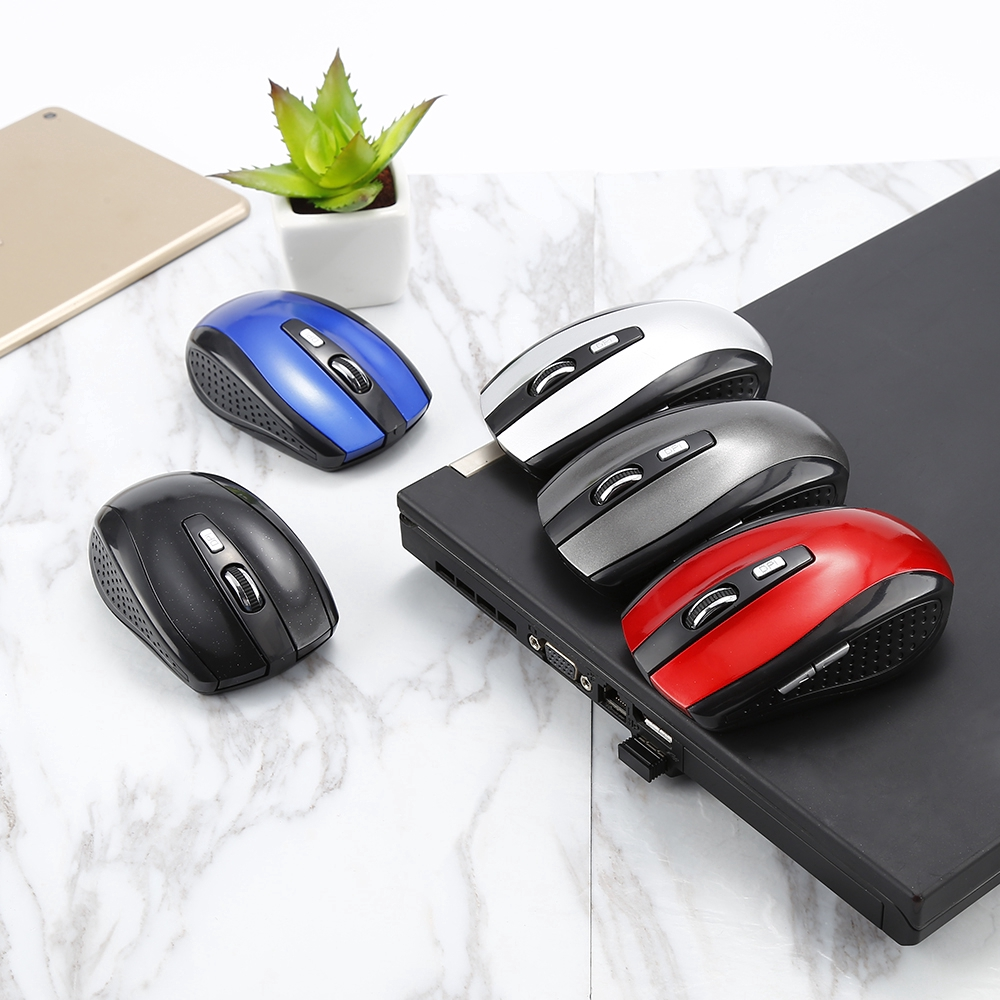 【COD】 2.4Ghz Wireless USB Optical Mouse Computer Gaming Mouse Gamer Mice 6 keys For Laptop Desktop PC