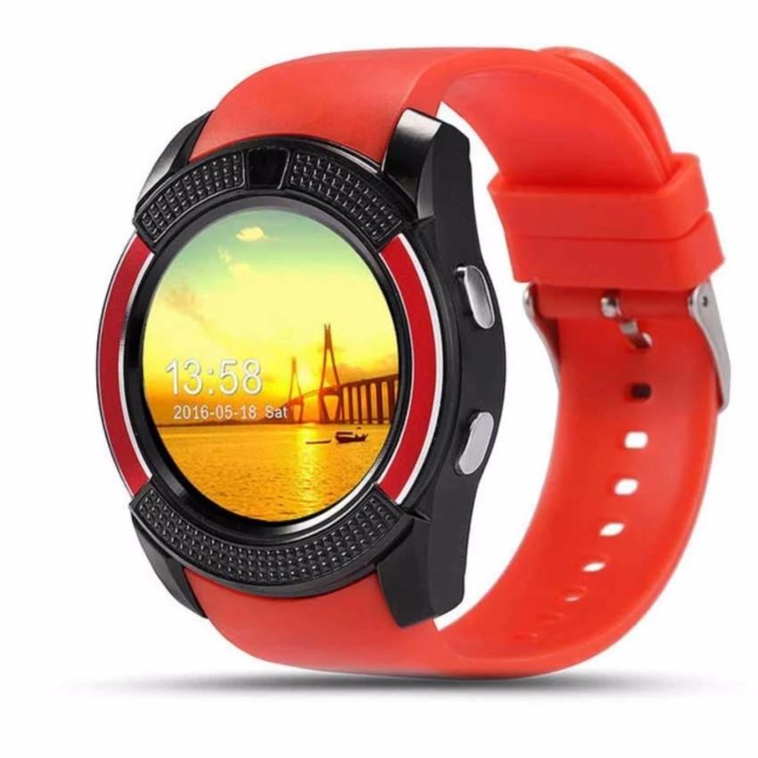 Đồng Hồ Thông Minh Smartwatch V8 cho trẻ đi học nghe gọi 2 chiều(đỏ đô)