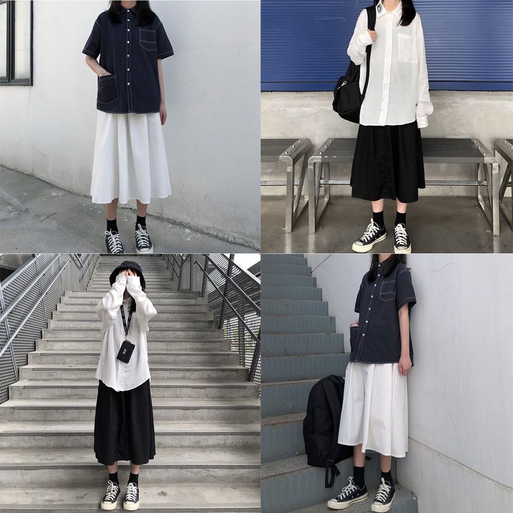 Chân váy kaki form dài hình thật vải bao đẹp-chân váy kaki dài-váy công sở-váy dài qua gối