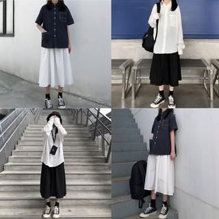 [Mã WA1510 giảm 10k đơn 99k] Chân váy kaki form dài hình thật vải bao đẹp-chân váy kaki dài-váy công sở-váy dài qua gối