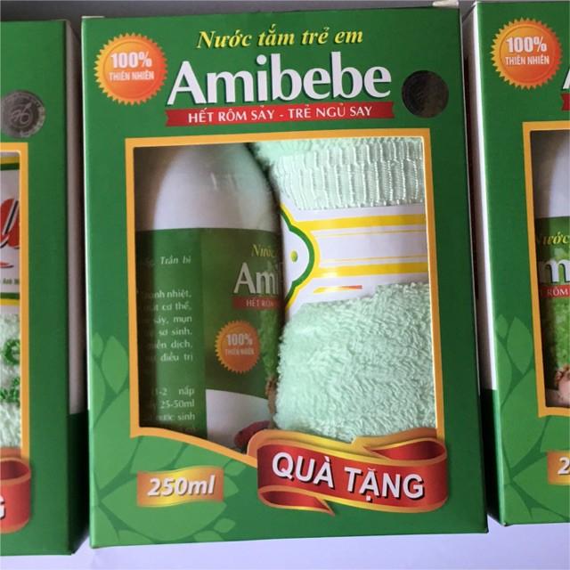 Nước tắm trị rôm sẩy amibebe 125ml (tặng