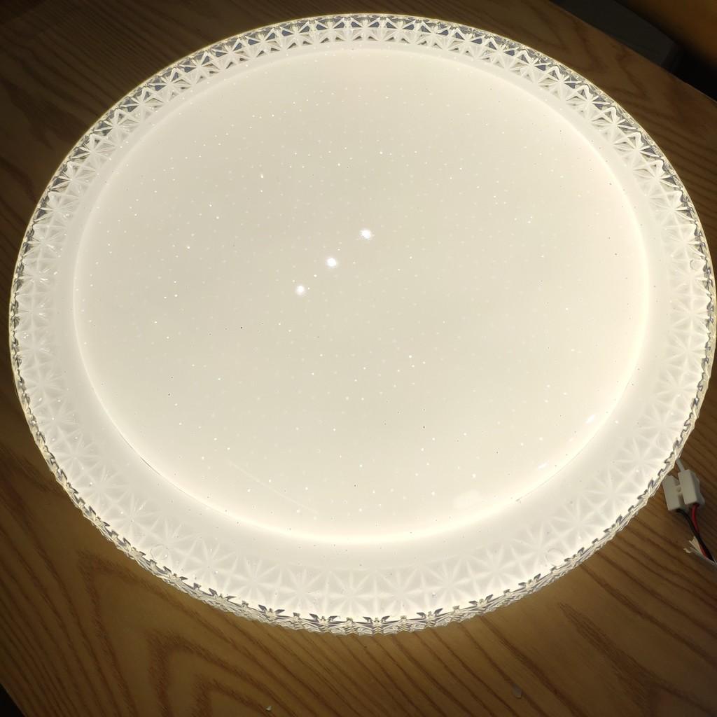 Đèn led mâm , lốp ốp nổi trần MICA trang trí 3 màu 3  chế độ , công suất 24W , dk 40cm