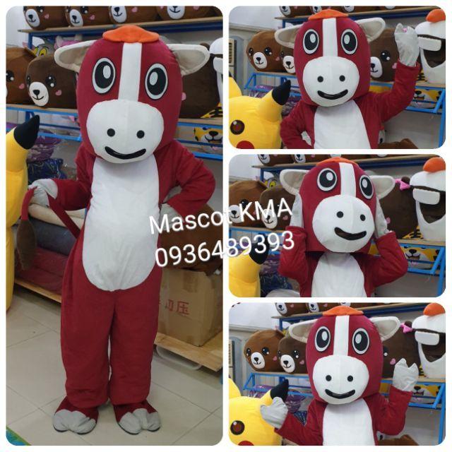 Quần áo hoá trang Mascot Ngựa nâu – sinh nhật, sự kiện