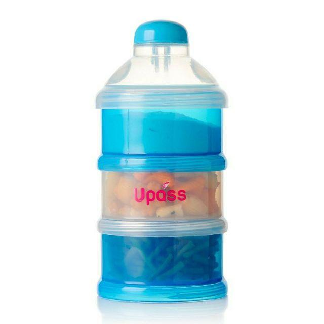 Hộp chia 3 ngăn nắp bật đựng sữa bột , thức ăn cho bé Upass UP8010N (Made in Thailand)