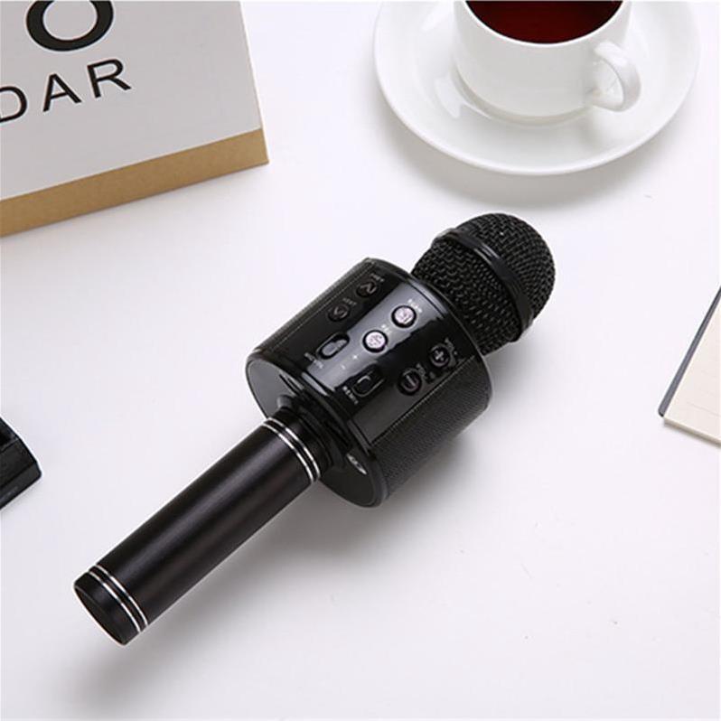 Mic hát karaoke không dây Loa Bluetooth với âm thanh ấm karaoke karaoke cầm tay mini hát hát hay nhất hiện nay [HT00001]