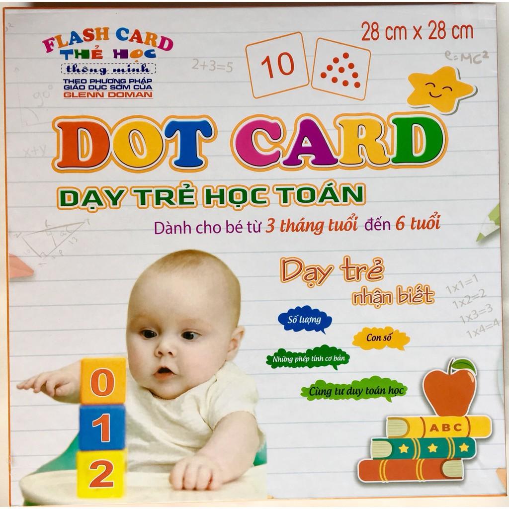 [Kid's Toy] Bộ thẻ học Dotcard dạy trẻ học toán theo phương pháp glenn doman [Giá lẻ rẻ như giá buôn]