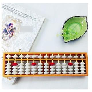 Bàn tính gẩy toán học Soroban 13 cột tư duy phát triển IQ của bé đồ chơi học tập rèn luyện tính nhẩm trẻ em tiểu học