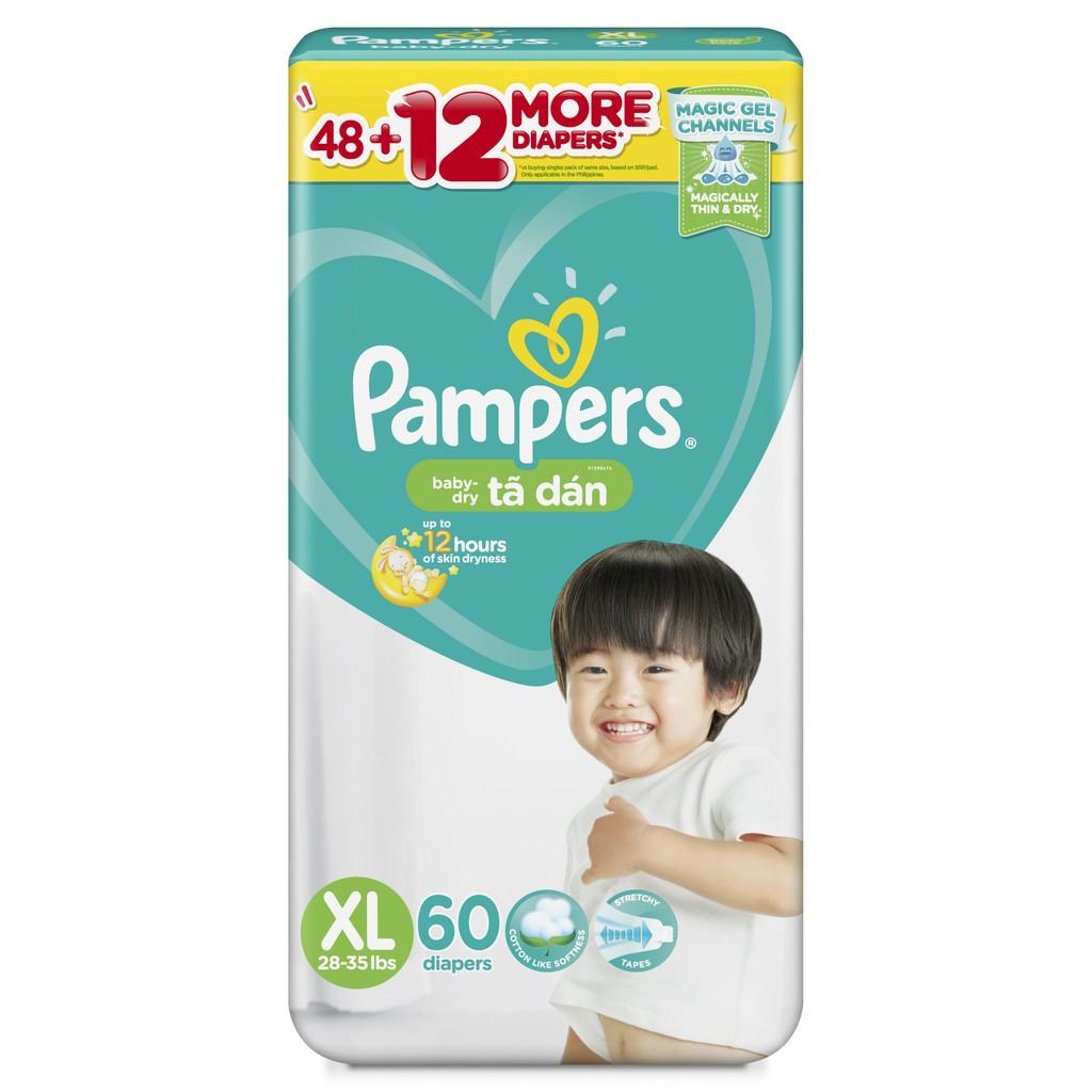 Tã/Bỉm Dán Pampers Baby-Dry M70/L68/XL60