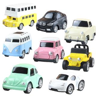 Mini Alloy Diecast Pull Back Car Kids Model Toy for Boys Collection Simulation Vehicle Little Racing Track Gift