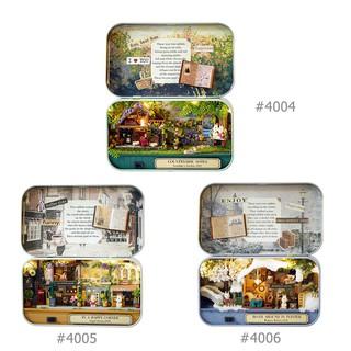★Lp★Box Theatre Nostalgic Theme DIY Miniature Scene Model Wooden Puzzle Toys