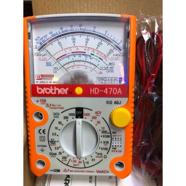 Đồng hồ đo vạn năng kim Brother HD-470A