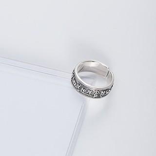 Hình ảnh Nhẫn Bạc Nữ S925 Tinh Khiết Chạm Khắc Họa Tiết Độc Đáo N-1688-4
