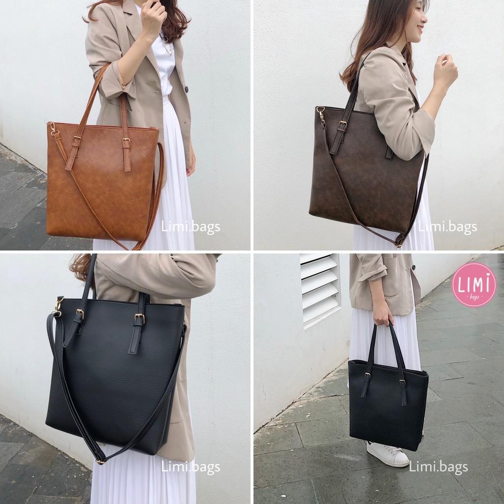 Túi Xách Nữ Da Công Sở đựng Laptop A4 bản to phù hợp đi dạy đi học đi làm SUPER BIG TOTE Limi bags