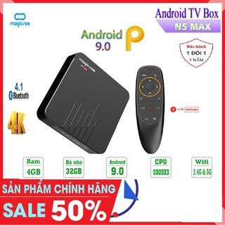 Android Tivi Box Magicsee N5 Max - Tivi Box Ram 4Gb - Bộ nhớ 32Gb - Chíp 905X3 - Phiên Bản 2020 Có Điều Khiển Voice