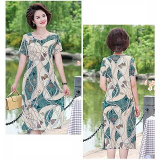 Đầm trung niên váy hoa mùa hè DTYY08A1X002