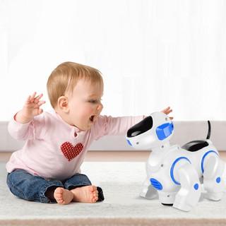 New Children's Puzzle Electric Dazzle Dancing Robot Dog Simulation Pet Dog Toy