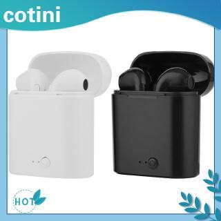 Tai nghe i7s TWS không dây mini Bluetooth kèm hộp sạc cho iOS