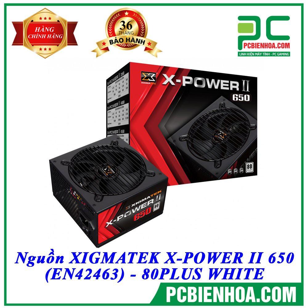 [Mã ELCLXU8 hoàn 8% xu đơn 500K] Nguồn máy tính XIGMATEK X-POWER II 650 (EN42463)-80PLUS WHITESản phẩm lý tưởng cho
