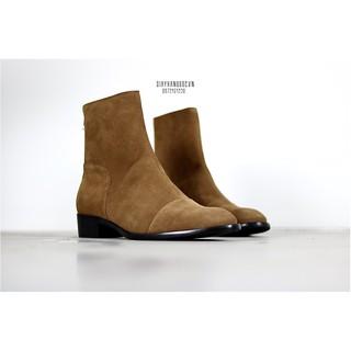Giày nam Harness Boots Khóa Kéo Da Bò Lộn Đế Phíp Cao Cấp BẢO HÀNH 12 THÁNG .Tặng Phụ Kiện thumbnail