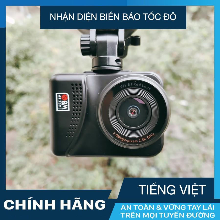 Camera hành trình ô tô W8s Carcam Wifi GPS nhận diện biển báo + thẻ nhớ 16/32 GB Class 10