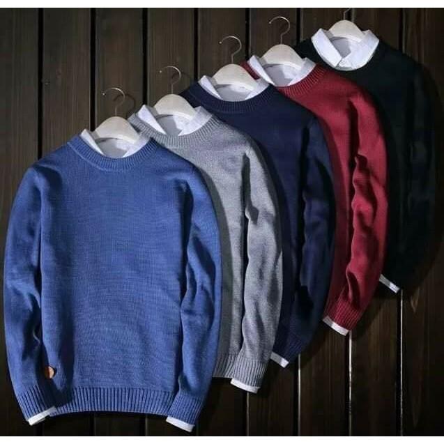 Áo len nam cổ tròn đủ màu - Mẫu áo len mới nhất 2020 BITULA