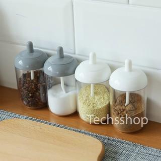 Hủ Đựng Gia Vị Có Nắp Đậy Kín Kèm Muỗng Trong Suốt Tiện Lợi – Đồ Dùng Nhà Bếp & Phòng Ăn – 1 Hủ