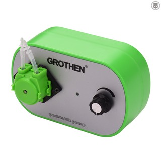 R&L✔✔GROTHEN G628-1 Peristaltic Liquid Dosing Pumps with Single Pump Head Stepless Speed Flow Control Small Hydraulic Equipment for Aquarium Lab Analytical Home
