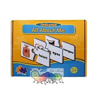 Hộp thẻ ghép hình chủ đề các bộ phận cơ thể – Match it Puzzle game – All about me, Ghép hình ít chi tiết (2 mảnh)