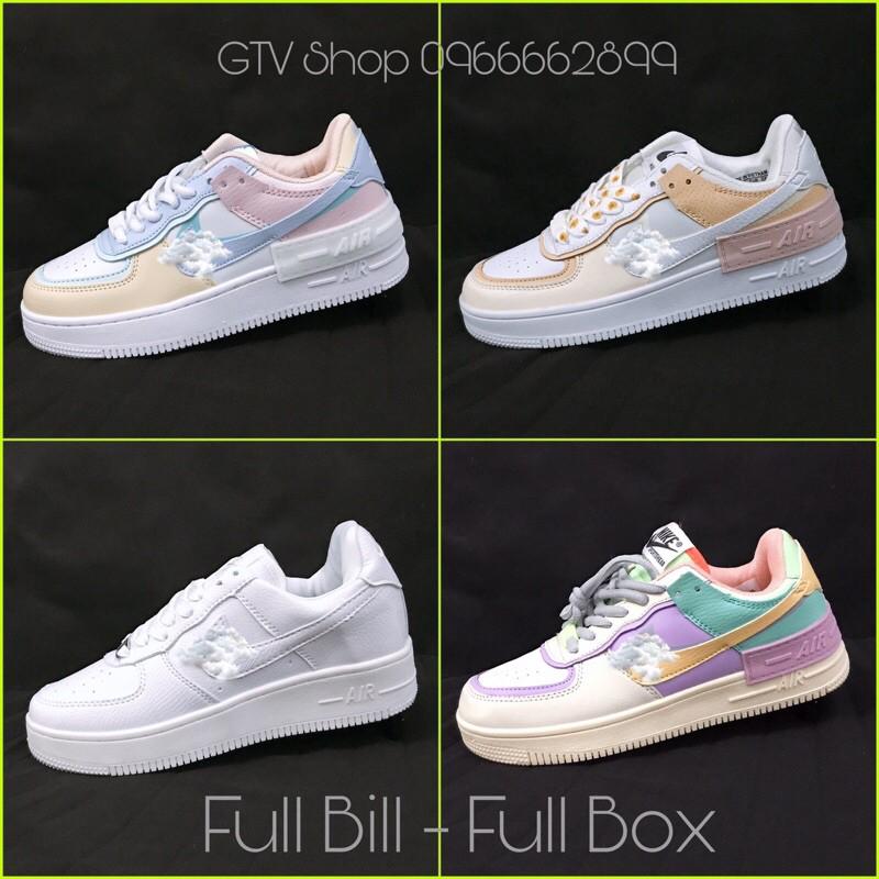 Full Bill, Boxx, Tặng hộp và Lọ tẩy - Giày thể thao sneaker AF1 shadow.    .
