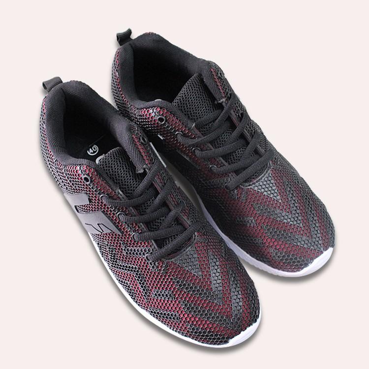 D&A giày sneaker nam TT1705 đỏ đen