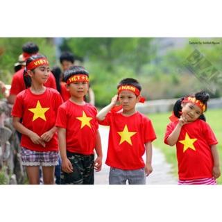Combo 100 áo cờ đỏ sao vàng trẻ em