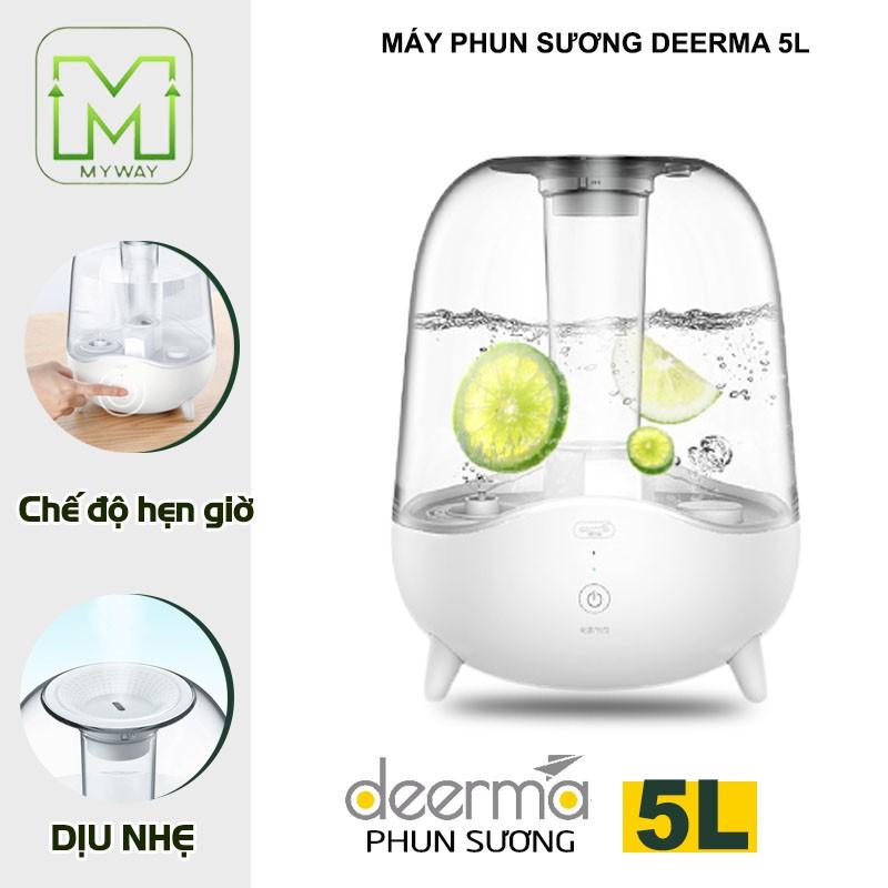 Máy phun sương tạo ẩm Deerma F325 dung tích 5L màng lọc nano cấp ẩm dưỡng da tối ưu phun sương 24/24