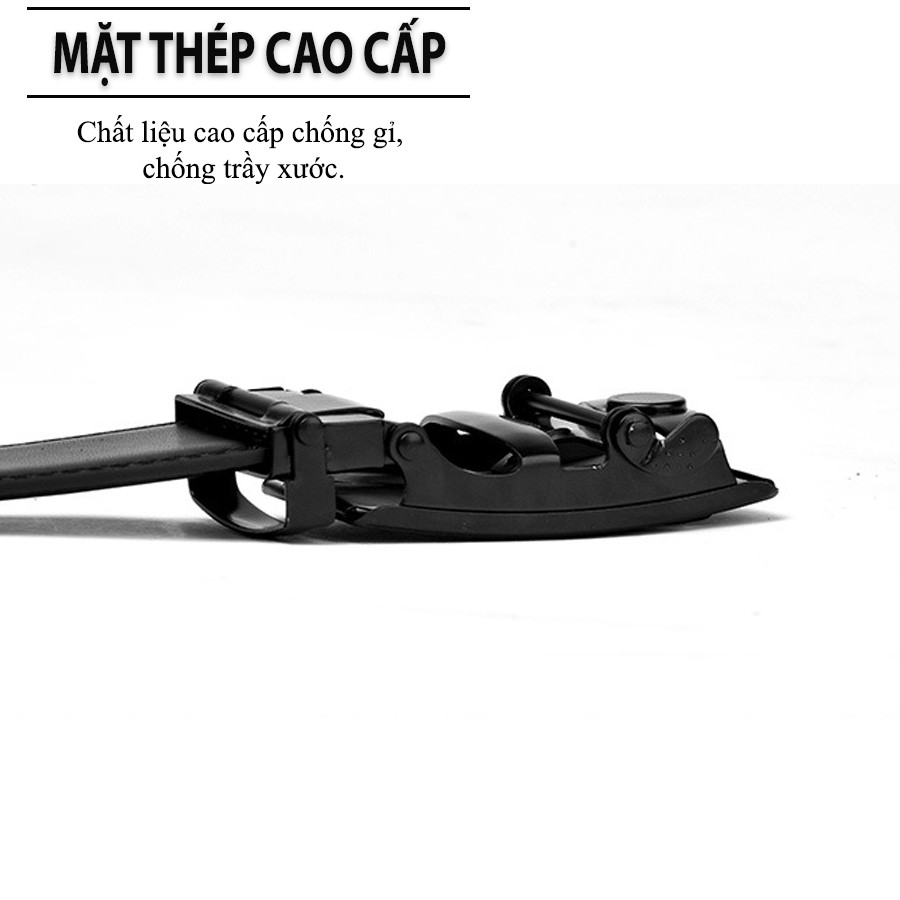 Thắt Lưng Nam Cao Cấp, Dây Nịt Nam Giá Rẻ DC01, Bản To 3,5cm, Khóa Kim Loại Tự Động, Phối...