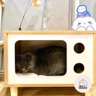 21Home Nhà gỗ cho mèo hình Tivi thumbnail