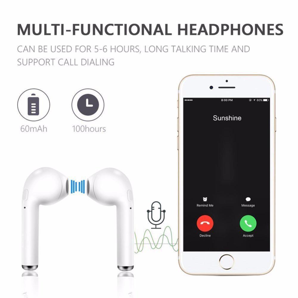 Tai Nghe Bluetooth Không Dây I7S Tws Có Mic Cho Iphone Android
